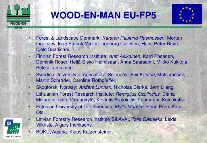 WOOD-EN-MAN EU-FP5