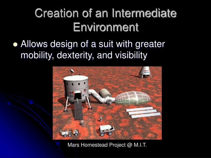 Creation of an Intermediate Environment