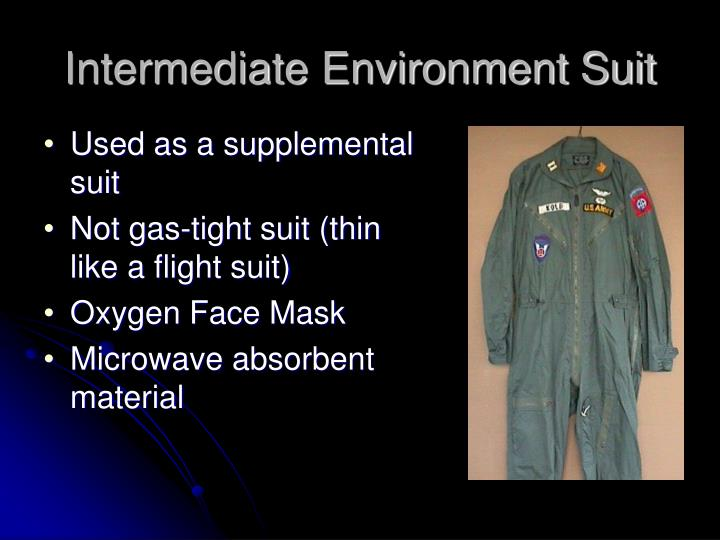 Intermediate Environment Suit