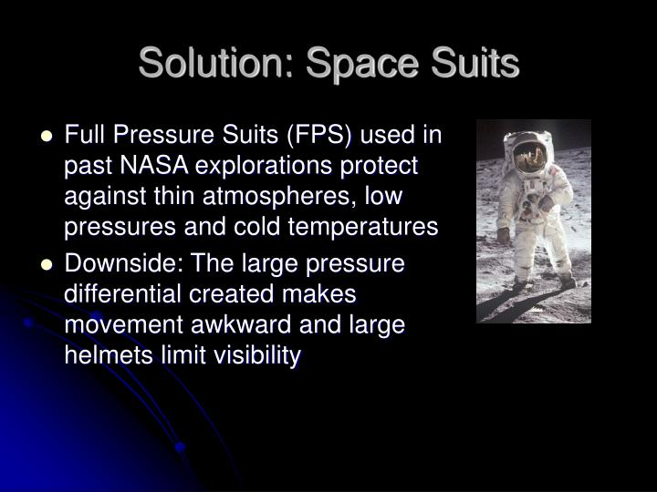 Solution: Space Suits