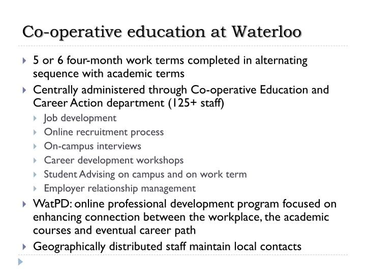 Co-operative education at Waterloo