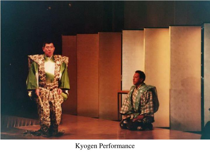 Kyogen Performance
