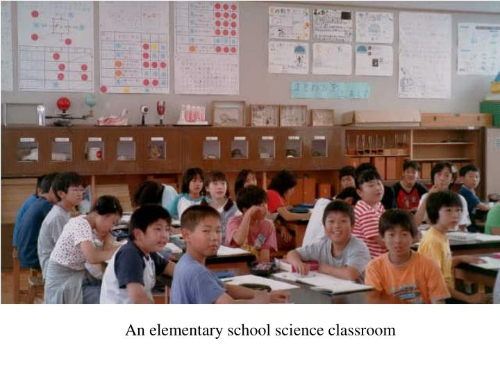 An elementary school science classroom