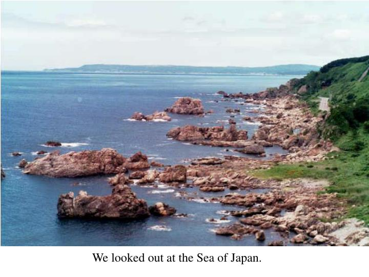 We looked out at the Sea of Japan.