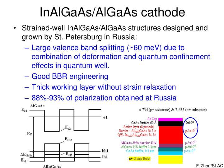 InAlGaAs/AlGaAs cathode