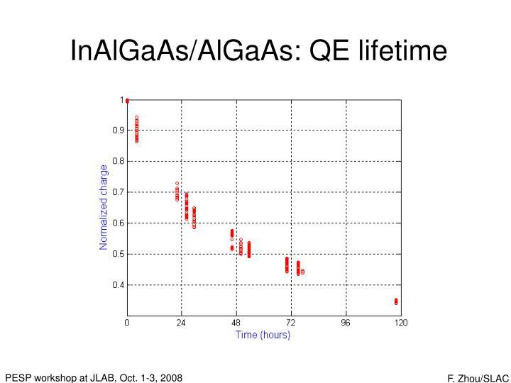 InAlGaAs/AlGaAs: QE lifetime