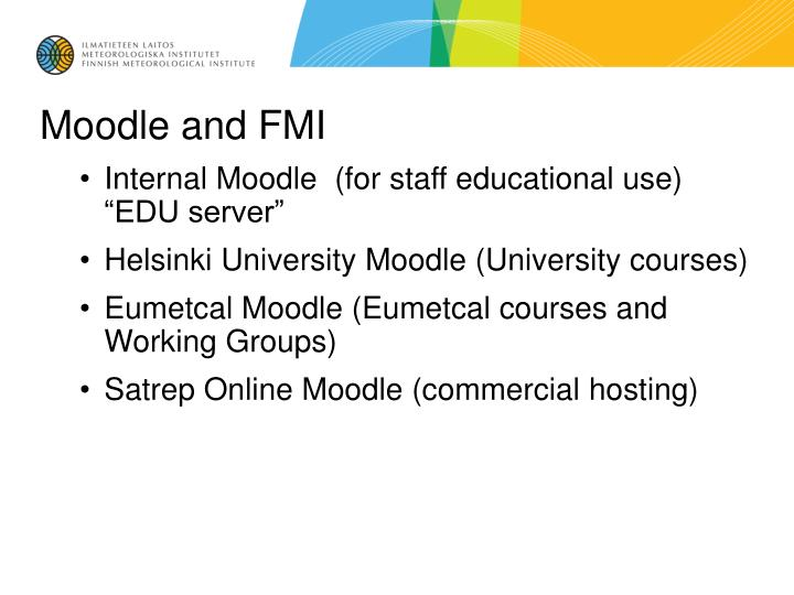Moodle and FMI