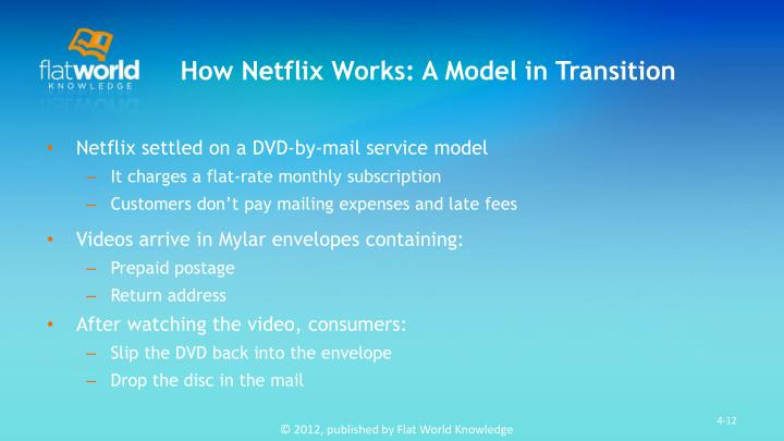 How Netflix Works: A Model in Transition