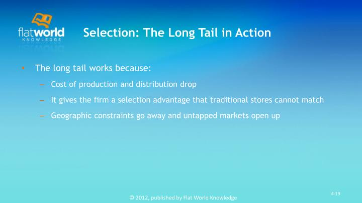 Selection: The Long Tail in Action