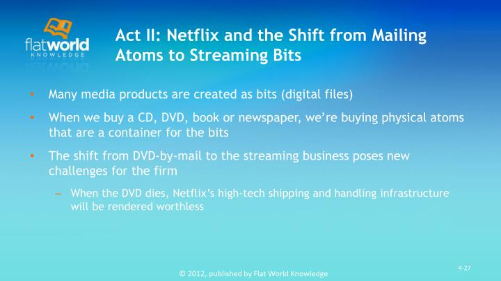 Act II: Netflix and the Shift from Mailing Atoms to Streaming Bits