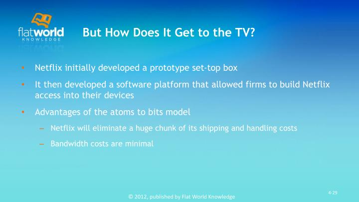 But How Does It Get to the TV?