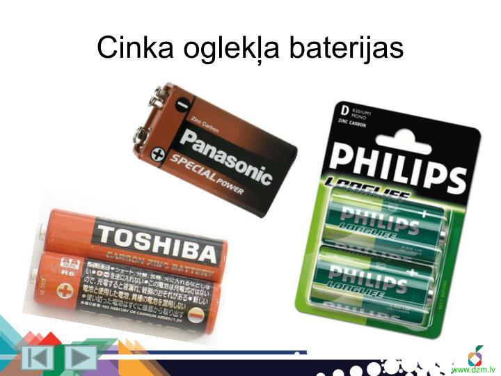 Cinka oglekļa baterijas