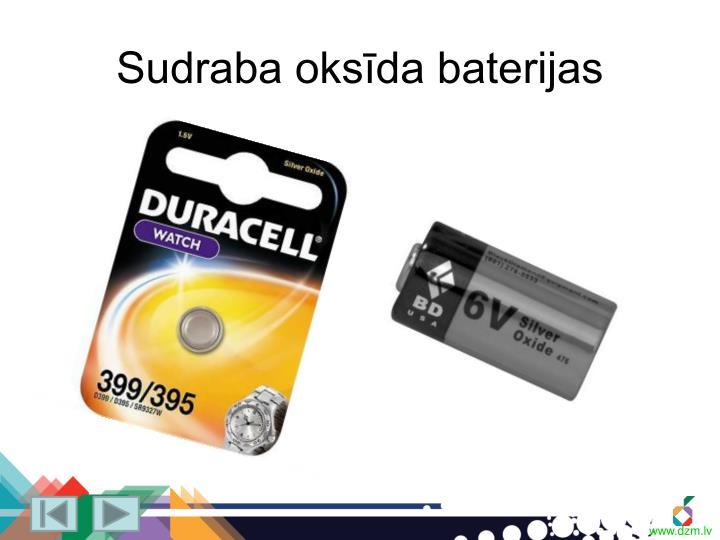 Sudraba oksīda baterijas