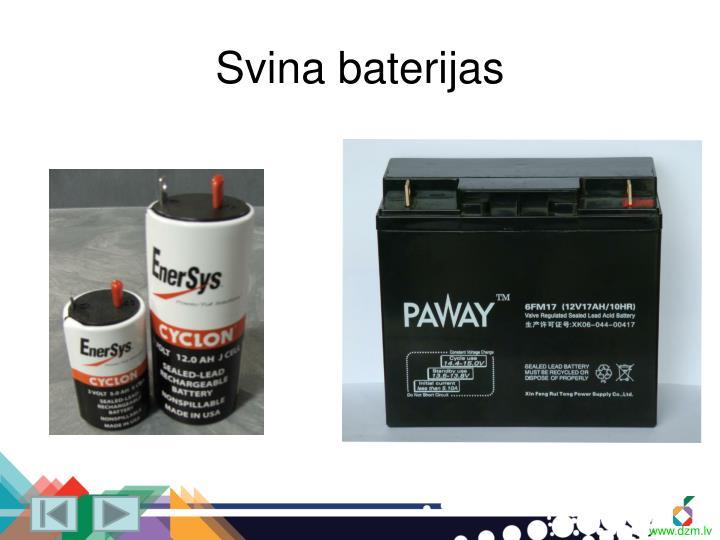 Svina baterijas