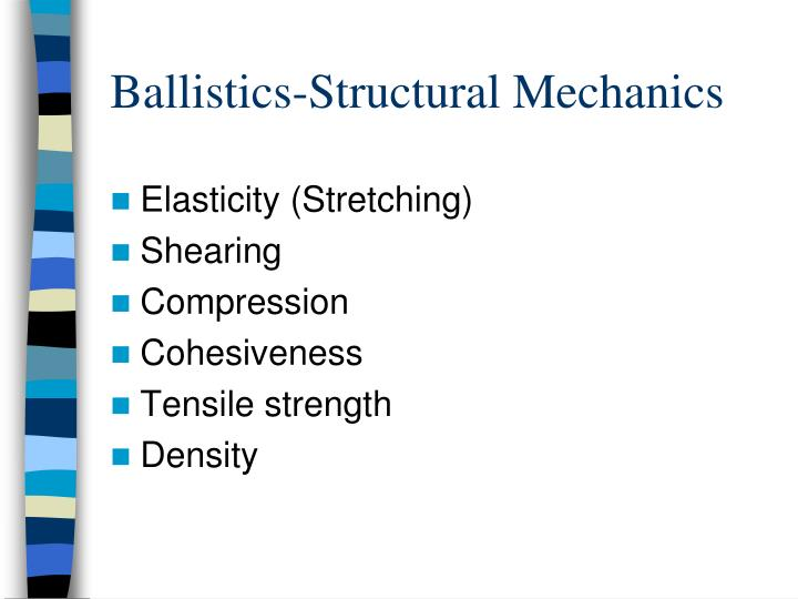 Ballistics-Structural Mechanics