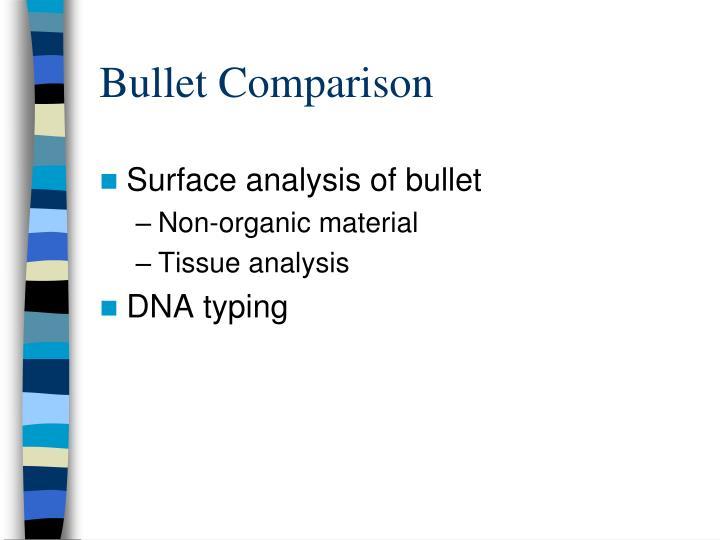 Bullet Comparison