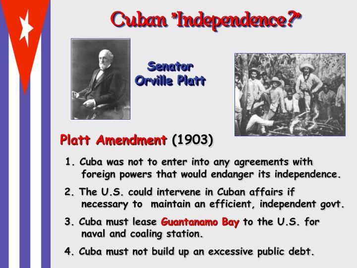 """Cuban """"Independence"""