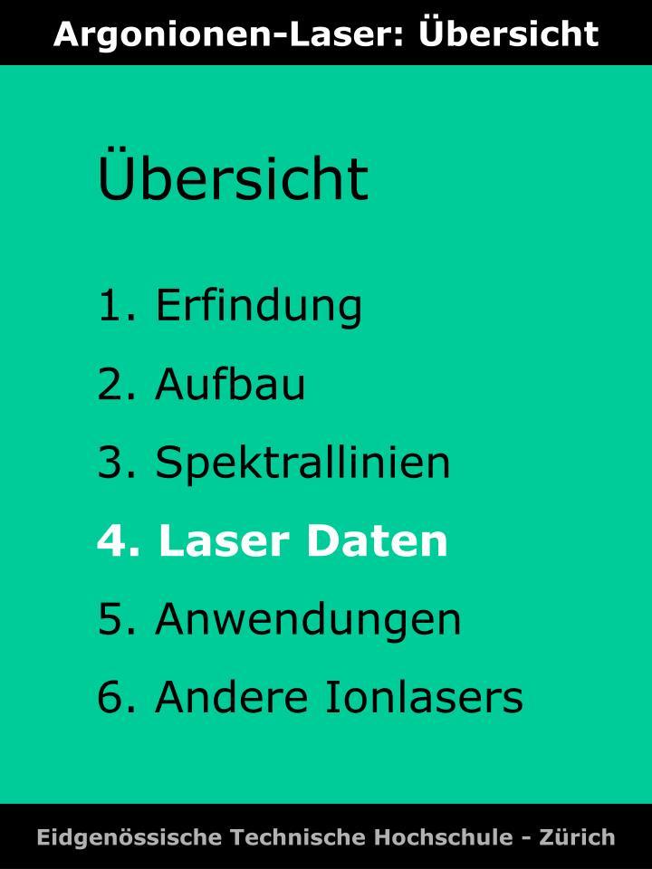 Argonionen-Laser: Übersicht