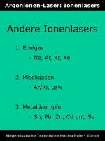 argonionen laser ionenlasers