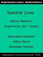 argonionen laser spektralinien