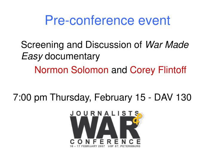 Pre-conference event
