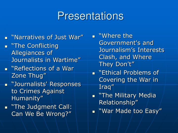 """""""Narratives of Just War"""""""