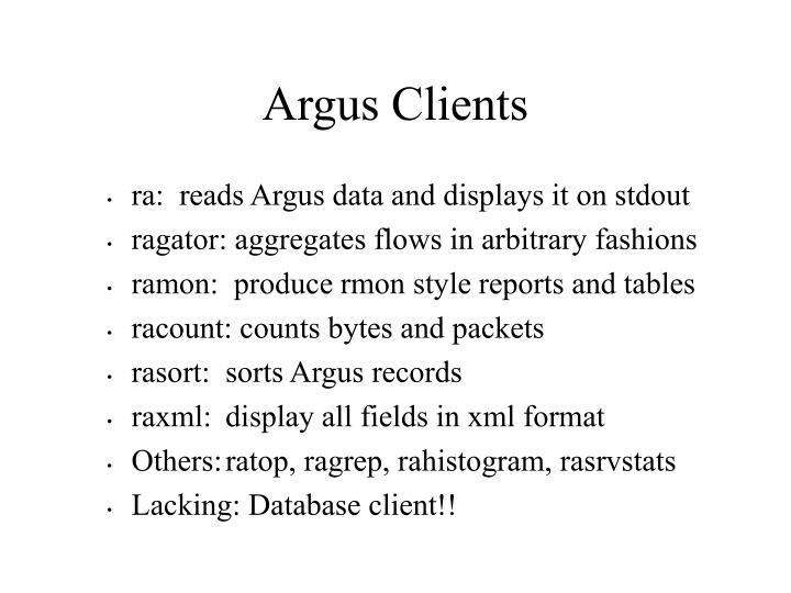 Argus Clients