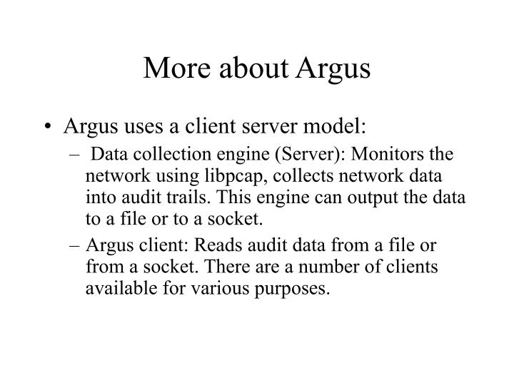 More about Argus