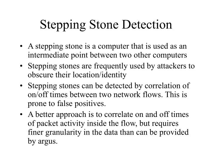 Stepping Stone Detection