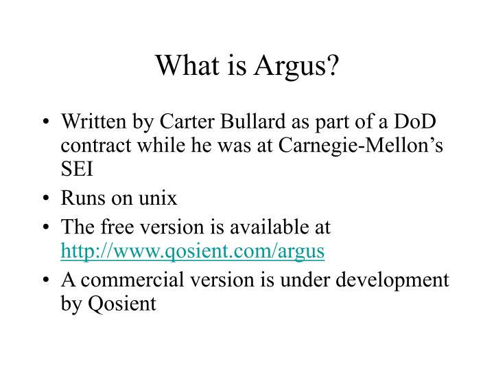 What is Argus?