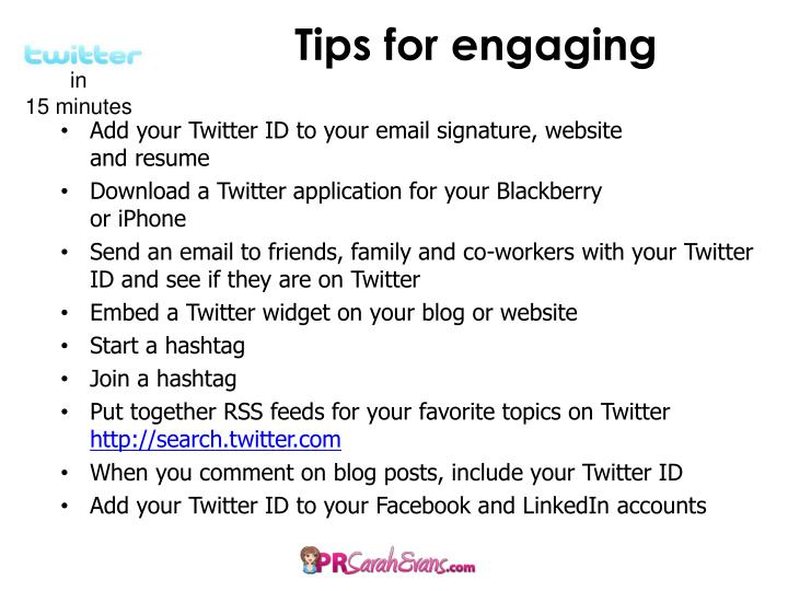 Tips for engaging