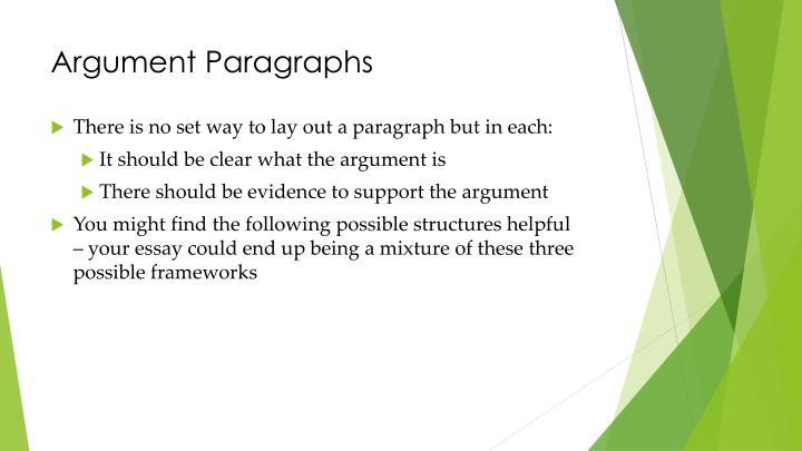 Argument Paragraphs