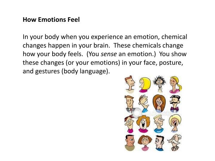 How Emotions Feel