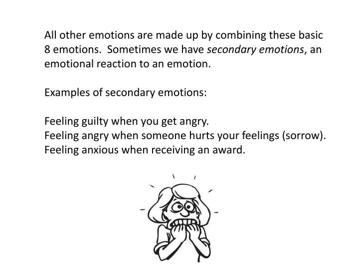 All other emotions are made up by combining these basic 8 emotions.  Sometimes we have