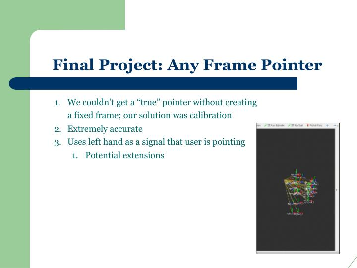 Final Project: Any Frame Pointer
