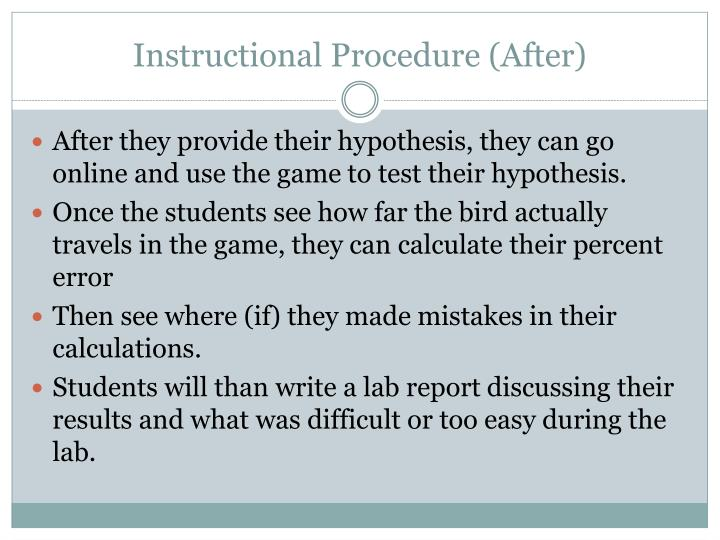 Instructional Procedure (After)