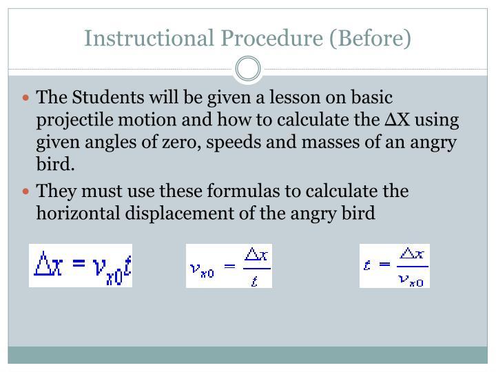 Instructional Procedure (Before)