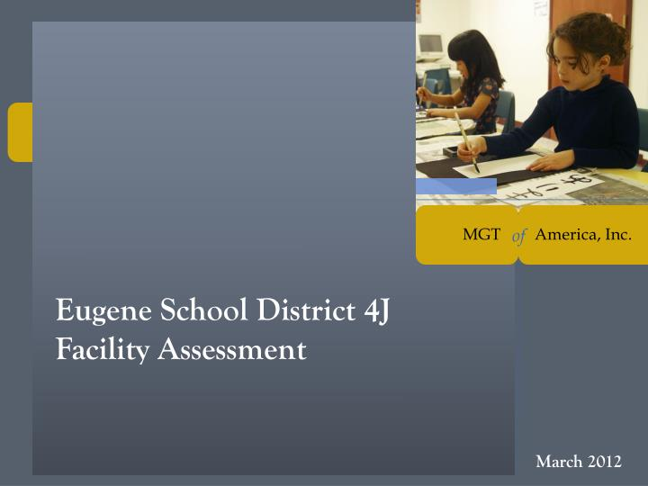 Eugene school district 4j facility assessment