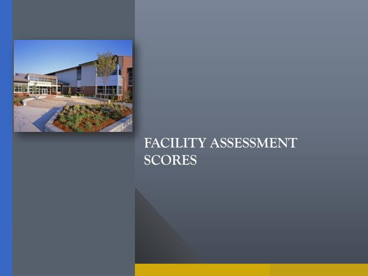 Facility assessment scores