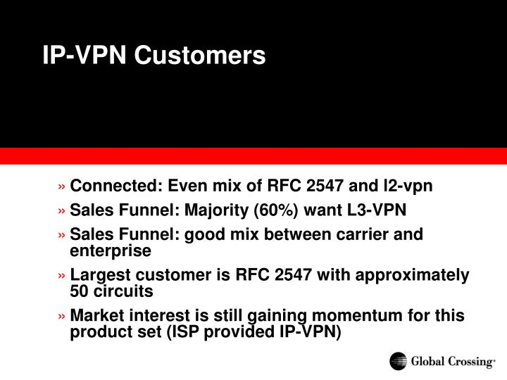 IP-VPN Customers