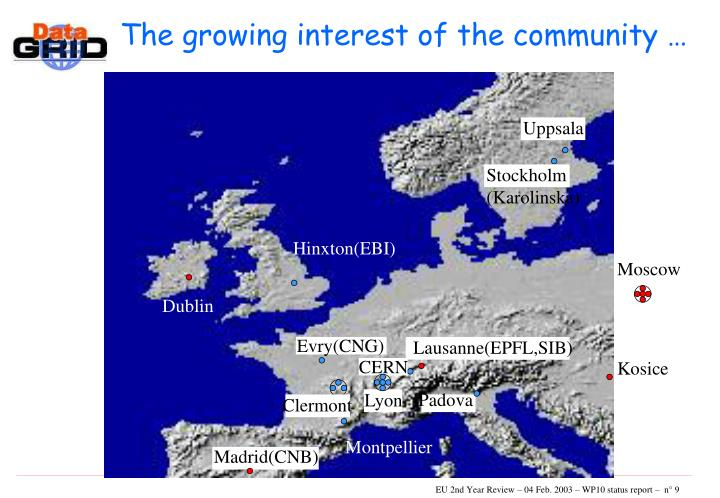 The growing interest of the community …