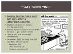 safe surveying
