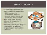 when to worry
