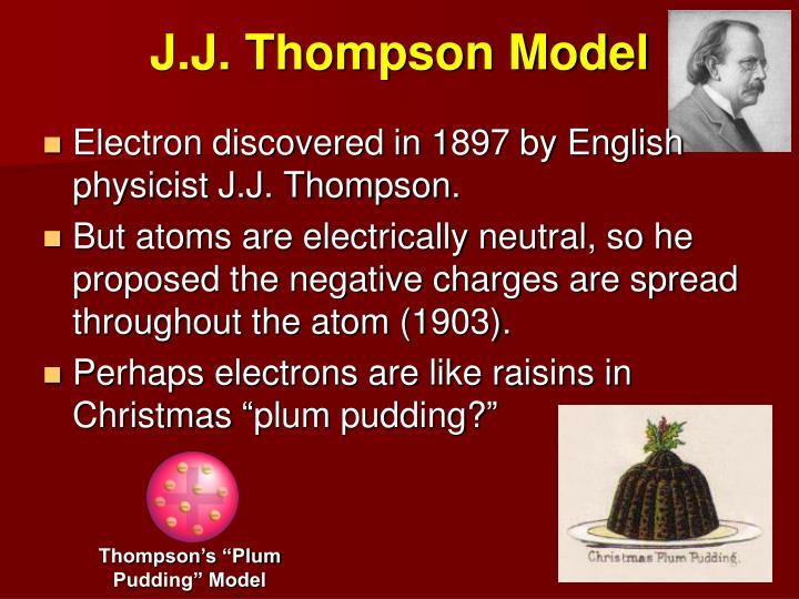 J.J. Thompson Model