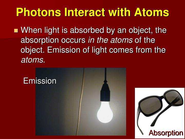 Photons Interact with Atoms