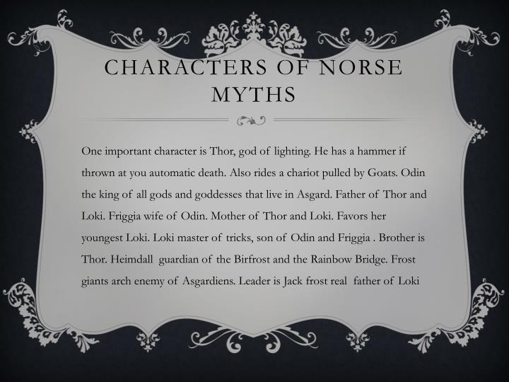 Characters of Norse myths