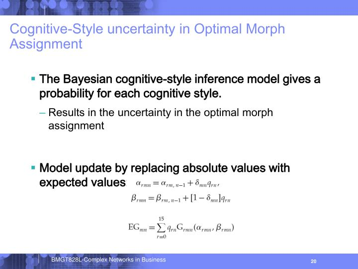 Cognitive-Style uncertainty in Optimal Morph Assignment