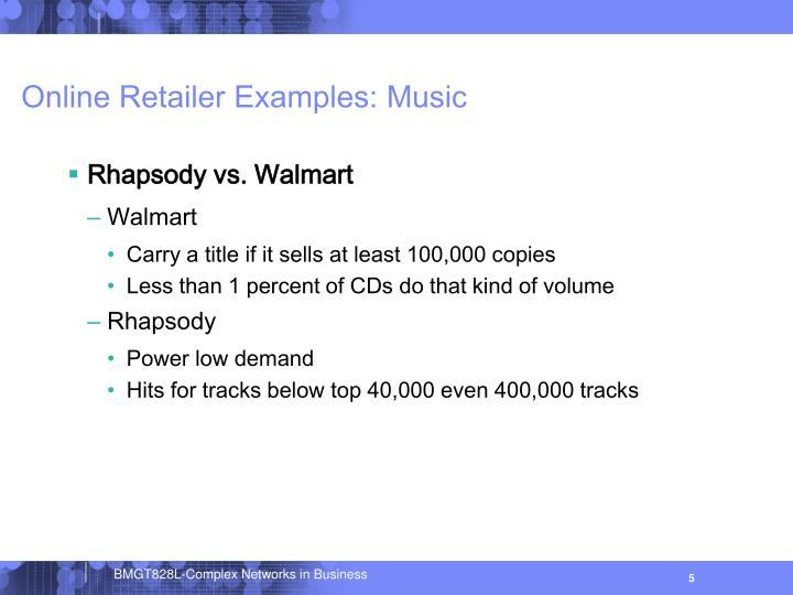 Online Retailer Examples: Music