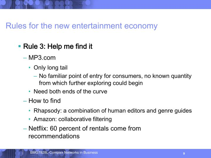 Rules for the new entertainment economy