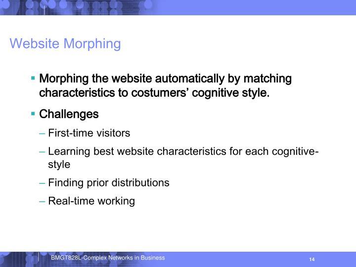 Website Morphing